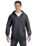 F280 Hanes Adult 9.7 oz. Ultimate Cotton® 90/10 Full-Zip Hood