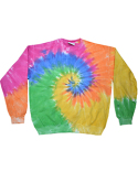 H8100 Tie-Dye Adult 8.5 oz., 80/20 crew neck fleece