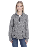 JA8617 J America Ladies' Cosmic Fleece Quarter-Zip