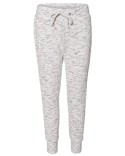 JA8675 J America Ladies' Melange Fleece Jogger Pant