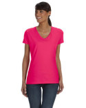 L39VR Fruit of the Loom Ladies' HD Cotton™ V-Neck T-Shirt