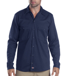 LL307 Dickies 6 oz. Industrial Long-Sleeve Cotton Work Shirt