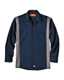 LL524T Dickies Unisex Tall Industrial Color Block Long-Sleeve Shirt