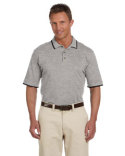 M210 Harriton Adult 6 oz. Short-Sleeve Piqué Polo with Tipping
