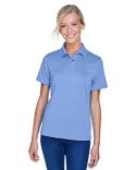 M345W Harriton Ladies' Advantage Snag Protection Plus IL Snap Placket Polo