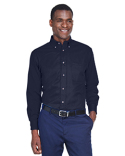M500T Harriton Men's Tall Easy Blend™ Long-Sleeve Twill Shirt with Stain-Release