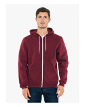 MT497W American Apparel Unisex Salt And Pepper Hooded Zip Sweatshirt