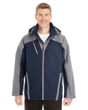 NE700 North End Men's Embark Interactive Colorblock Shell with Reflective Printed Panels