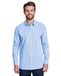 RP220 Artisan Collection by Reprime Men's Microcheck Gingham Long-Sleeve Cotton Shirt