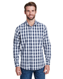 RP250 Artisan Collection by Reprime Men's Mulligan Check Long-Sleeve Cotton Shirt