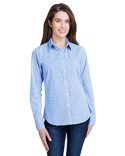 RP320 Artisan Collection by Reprime Ladies' Microcheck Gingham Long-Sleeve Cotton Shirt