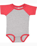 RS4430 Rabbit Skins Infant Baseball Bodysuit