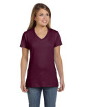 S04V Hanes Ladies' 4.5 oz., 100% Ringspun Cotton nano-T® V-Neck T-Shirt