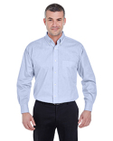 U8360 UltraClub Men's Long-Sleeve Performance Pinpoint