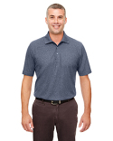 UC100 UltraClub Men's Heathered Pique Polo