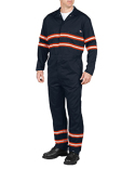 VV601 Dickies Men's Enhanced Visibility Long-Sleeve Coverall